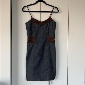 Denim Satin Dress